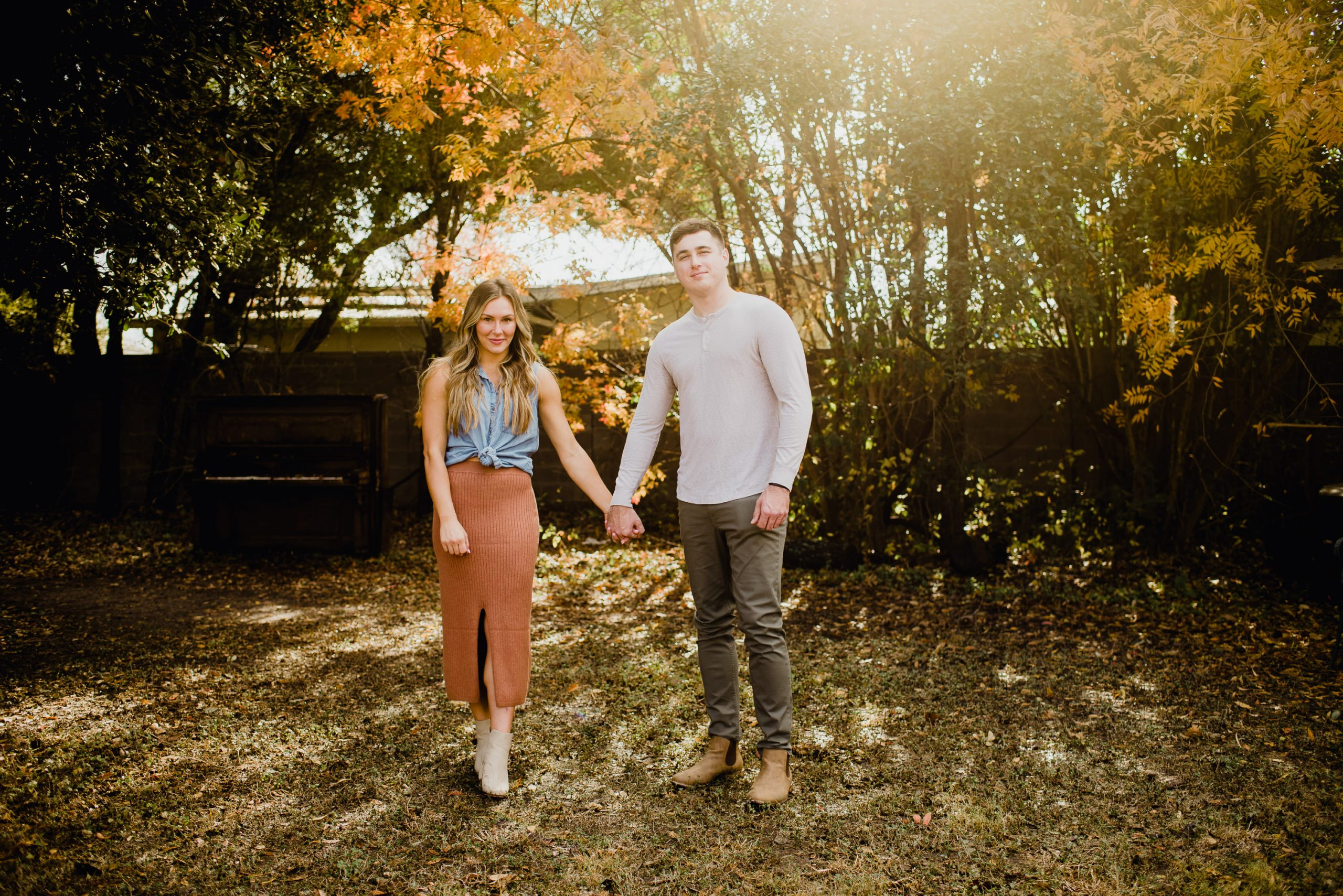 Fall engagement session in austin